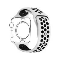 Cinturino Smart Watch,Ontube 42MM Banda di ricambio molle del silicone con fori di ventilazione per Apple Watch Serie 3 Serie 2, Serie 1, Sport, Edizione, M/L