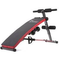 Fitfiu Fitness AB-FIT002, Panca Pieghevole per Allenamento Addominali Unisex – Adulto, Nero, M