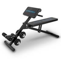 Capital Sports Panca Multifunzione Sit'n Curl Set Manubri Regolabile 20kg