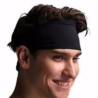 Unisex di sport fascia Uomini Donna Felpe fascia capa fascia elastica dei capelli neri accessori Sport antisdrucciolevole del Parasudore per yoga Pilates Esecuzione fitness Crossfit Gym