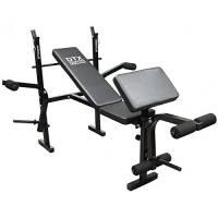 DTX Fitness - Panca all-in-one per sollevamenti con manubri/bilanciere e allenamento gambe/braccia