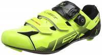 VeloChampion Scarpe (Paio) da Ciclismo VCX con Suola in Fibra di Carbonio Fluoro Yellow/Black 43
