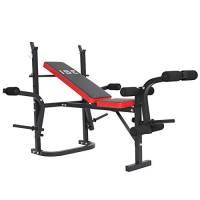 ISE Panca da pesi multifunzione regolabile e pieghevole, attrezzo fitness per allenamento completo sy543