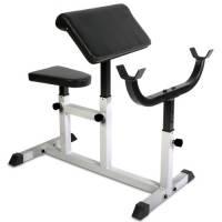 Physionics® hntlb09- Banco di Biceps Curl–con braccioli e seduta regolabili