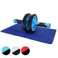 Physionics Attrezzo addominali doppia ruota AB wheel roller con tappetino colore blu
