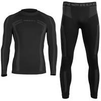 Norde - Biancheria intima tecnica, termica, da uomo, traspirante, per ciclismo e running, nero, L