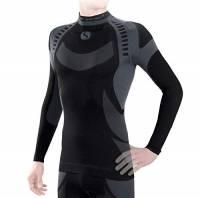 Sesto Senso® Uomo Intimo Termico Maglia a Maniche Lunghe T-Shirt Funzionale Biancheria Intima Termoattivo (S, Grigio)