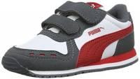 Puma Cabana Racer SL V Inf, Scarpe da Ginnastica Basse Unisex – Bambini, Bianco White-Iron Gate-Ribbon Red 63, 25 EU
