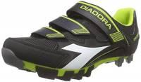 Diadora - X TRIVEX II, Scarpe da Ciclismo Unisex, Color Nero (Black/Lime punch5808), Talla 44