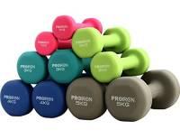 PROIRON Pesi Palestra in Casa Fitness e Palestra Manubri e Pesi Fitness Pesi Per Palestra Manubrio (Set di 2) 2 x 3kg