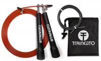 Corda da salto di velocità con cavo di riserva omaggio – GARANZIA A VITA - regolabile in base all'altezza – con cuscinetti sferici di qualità. Ideale per CrossFit, Boxing e per bruciare calorie