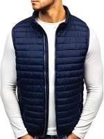 BOLF Gilet – Trapuntato – Senza cappuccio – A zip – Sportivo – Di moda – Da uomo S-WEST 1253 Blu M [4D4]