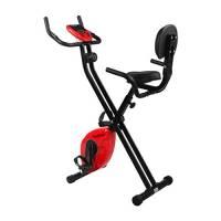 Finether Cyclette Magnetica Pieghevole con Schienale Cyclette da Camera Fitness Trainer da Casa F-Bike con Sensori Delle Pulsazioni