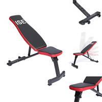 ISE Panca pesi regolabile multifunzione per sollevare pesi allenamento a casa , appoggio schiena e sedile regolabile,allenamento fitness