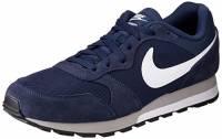 Nike MD Runner 2, Scarpe da Ginnastica Uomo, Blu (Midnight Navy/White-Wolf Grey), 44 EU