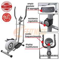 FFitness Cyclette ELLITTICA Magnetica Home Trainer Bici da Fitness Home Fitness Allenamento in CASA Camera Cardio Bici da Camera