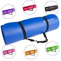 Tappetino Spessore Antiscivolo Per Yoga KG   PHYSIO (1cm), Qualità Premium Tappetino Fitness per Pilates e cinghia di spalla libera 183cm x 61cm x 1cm (denso)