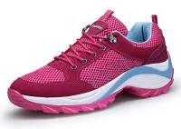 DAFENP Donna Sneakers Scarpe da Ginnastica Corsa Sportive Fitness Running Basse Interior Casual all'Aperto,XZ806-W-red-EU41