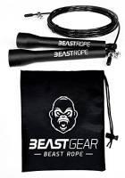 Corda per saltare della Beast Gear - Corda veloce per Crossfit, Pugilato, MMA. Peso leggero con lunghezza regolabile e meccanismo a cuscinetto a sfera resistente – Perfetta per i Double Unders