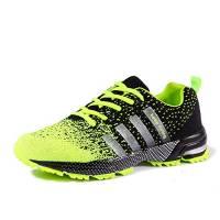 Uomo Donna Ginnastica Trekking Estive Sneakers Sportive Verde 43