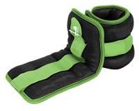 Reehut - Cavigliera/polsiera (1paio), resistenti, con cinghia regolabile, per fitness, esercizi, passeggiata, jogging, ginnastica, aerobica, palestra (0,9kg, 1,4kg, 1,8kg, 2,7kg e 3,6kg), Green
