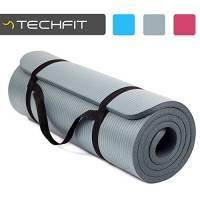 Premium TechFit Extra Spesso 15 mm Fitness Palestra Tappetino, 180 x 60 cm, Ideale per Esercizi del Pavimento, Campeggio, Yoga, Stretching, ABS, Pilates