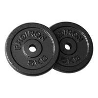 PROIRON Dischi pesi Piastre Ghisa peso impostato 1.25kg, 2,5 kg, 5 kg, 10 kg Per manubri da 1 pollice (5kg*2)