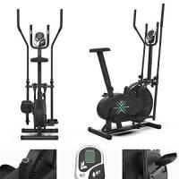 Deluxe 2-in-1 Attraversare Allenatore & Esercizio Bici Fitness Cardio Allenamento Con Sede