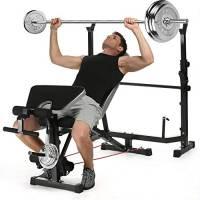 COMOTS panca multifunzione fitness con posizione regolabile pieghevole panca manubri allenamento ABS Leg Preacher Curl Bar esercizio attrezzature casa multi palestra set