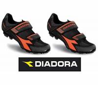 Coppia scarpe bici mtb Diadora mod. X-Phantom 2 nere/arancio fluorescenti