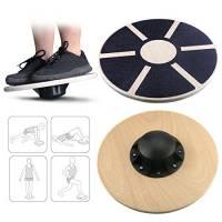 Emooqi Pedana di Equilibrio in Legno Balance Board per equilibrio e coordinazione Carico massimo circa 150 kg/ dimensione circa 39.5 cm