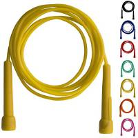 Farabi corda per saltare salto corda fitness boxe manico in plastica di nylon palestra esercizio (giallo)