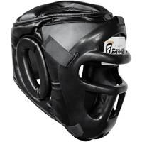 Farabi Sports Boxing HeadGuard, Helmet Head prototector Gear Real Leather (Large)