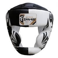 Farabi Sports Boxing Head Guard, casco Prototector Gear in vera pelle (grande)