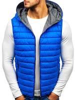 BOLF Gilet – Trapuntato – Senza cappuccio – A zip – Sportivo – Di moda – Da uomo S-WEST 1251 Azzurro M [4D4]