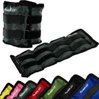 MOVIT Twin Set di pesi da polso o di caviglia, armatura, pesi da 1,5 kg polsini in peso da grigio colori / pesi: 2x 1,5kg