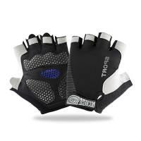 EVILTO Guanti Sportivi, Fitness Guanti traspiranti Anti-Slip Antiurto Mezze punte delle dita Guanti da Uomo Donna - (XL) Nero