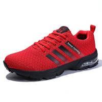 Scarpe da Corsa Sportivi Unisex Adults Running Air Cushion 3cm Fitness Ginnastica Basse Sneakers Nero Blu Rosso Bianco Rosso 43