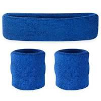 Set parasudore bambini (1 fascia/2 polsini)., Blue