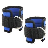 Htianc Cavigliera per esercizi con morbida cinghia in nylon regolabile con anello a D, coppia di cavigliere, accessorio per le gambe, attrezzatura per bodybuilding e allenamento in palestra