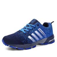 Sollomensi Scarpe da Ginnastica Uomo Donna Sportive Corsa Trail Running Sneakers Fitness Casual Basse Trekking Estive Running all'Aperto EU 45 Blue