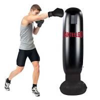 Sacco da Boxe, GEMGO Sacco Boxe da Terra 160CM, MMA Punching Kick Training Tumbler Bag per Bambini Adulti alleviare la Pressione Body Building