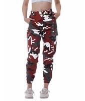 Fanient Pantaloni Cargo da Donna Pantaloni di Sicurezza mimetici Pantaloni da Jogger a Vita Alta e Slim Fit Pantaloni da Combattimento Pantaloni Tasche con Cintura L