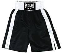 Everlast 4311 Boxing Trunk Pantaloncino Pugilato, Nero, Taglia M