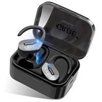 Cuffie Bluetooth Sport Auricolari bluetooth senza fili Wireless Sportive in-Ear Bluetooth 5.0 45 ore Riproduzione Auto-On Auto Pairing Cancellazione di Rumore Siri Stereo TWS con Mic per iOS Android