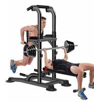 BOUDECH Power Tower Dip Bar con Panca Barra TRAZIONI Stazione di Allenamento Chin UP *PANCAGINNIMULTI*