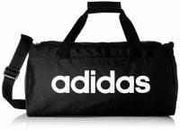adidas Lin Core Duf S Borsone, 55 cm, Nero (Black/Black/White)