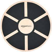AmazonBasics, Balance board oscillante in legno, Nero