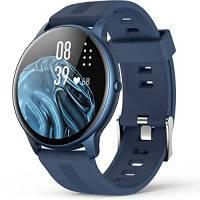 """AGPTEK Smartwatch Uomo Fitness Impermeabile IP68 Sport, Cardiofrequenzimetro da Polso Uomo con Touchscreen 1.3"""", Smart Watch Sportivi Controllo Musica Cronometro Contapassi (Blu)"""