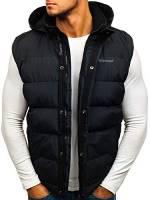 BOLF Gilet – Trapuntato – Senza Cappuccio – A Zip – Sportivo – di Moda – da Uomo FREESTEP 8260 Nero M [4D4]